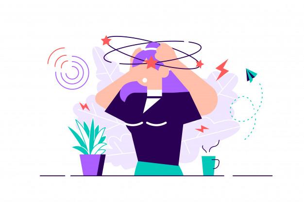 dizziness vector illustration