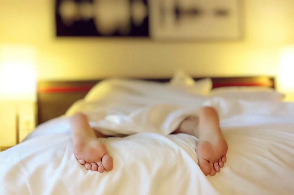 woman sleeping - blurry photo
