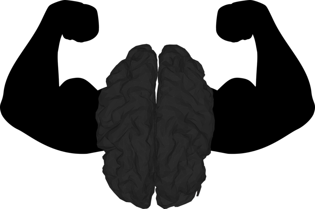 a healthy brain  vector image