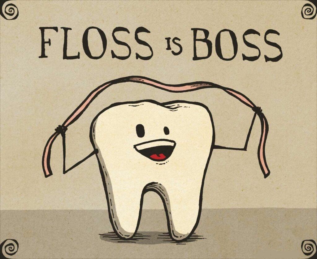floss is boss vector image