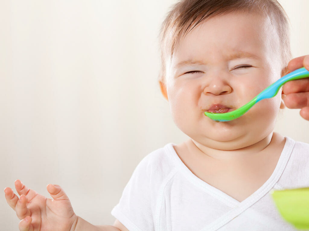 11-month-old baby refusing food