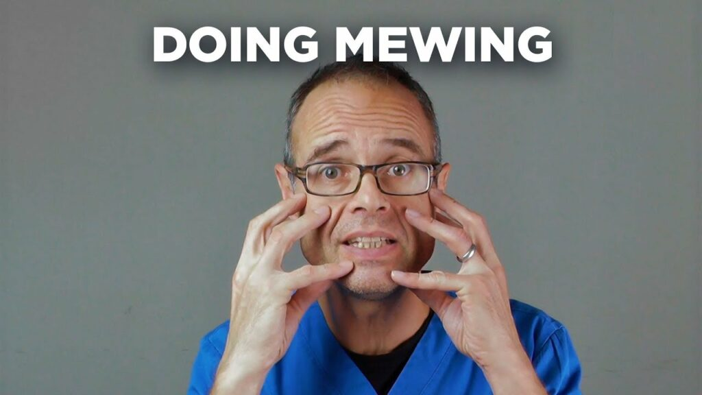 dr mike mew doing mewing