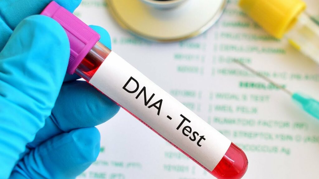 blood in a DNA test tube
